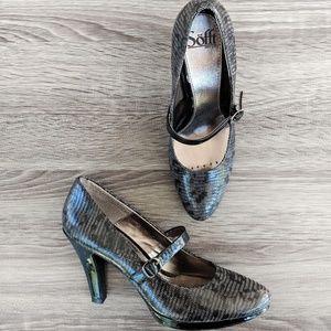 Sofft Mary Jane Platform Heels Black 8.5